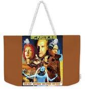 Irish Terrier Art Canvas Print - The Fifth Element Movie Poster Weekender Tote Bag