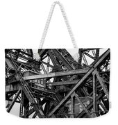 Iron Bridge Close Up In Black And White Weekender Tote Bag