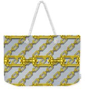 Iron Chains With Brushed Metal Seamless Texture Weekender Tote Bag