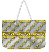 Iron Chains With Brushed Metal Texture Weekender Tote Bag