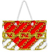 Iron Chains With Heart Texture Weekender Tote Bag