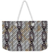 Iron Chains With Metal Panels Seamless Texture Weekender Tote Bag