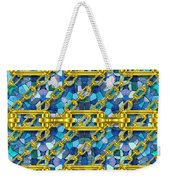 Iron Chains With Mosaic Seamless Texture Weekender Tote Bag