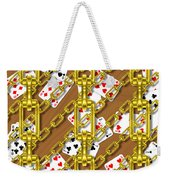 Iron Chains With Playing Cards Seamless Texture Weekender Tote Bag