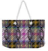 Iron Chains With Tartan Seamless Texture Weekender Tote Bag