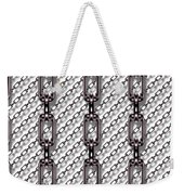 Iron Chains With White Background Seamless Texture Weekender Tote Bag
