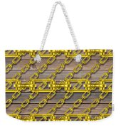 Iron Chains With Wood Texture Weekender Tote Bag