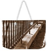 Iron Fence With Shadows Weekender Tote Bag