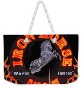 Iron Horse Saloon In Neon Weekender Tote Bag