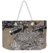 Iron Raw Materials Recycling Pile, Work Machines.  Weekender Tote Bag
