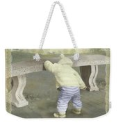 Is Bunny Under The Bench? Weekender Tote Bag
