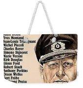 Is Paris Burning Gert Frobe As General Dietrich Von Chlitz German Theatrical Poster 1966 Weekender Tote Bag