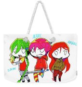 Isamu, Akane, And Amanda Weekender Tote Bag