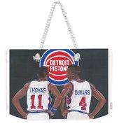Isiah Thomas And Joe Dumars Weekender Tote Bag