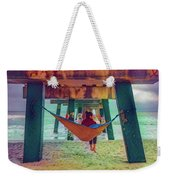 Island Dreams Under The Pier Watercolors Painting Weekender Tote Bag