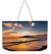 Island Gold - An Amazingly Golden Sunset On The Beach In Hawaii Weekender Tote Bag