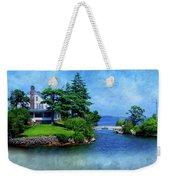 Island Home With Bridge - My Happy Place Weekender Tote Bag