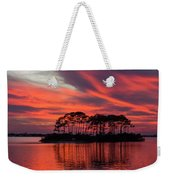 Island In The Fire Weekender Tote Bag