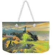 Island Lighthouse Weekender Tote Bag
