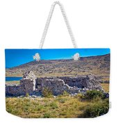 Island Of Krk Old Stone Ruins Weekender Tote Bag