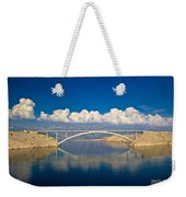 Island Of Pag Bridge And Velebit Mountain Weekender Tote Bag