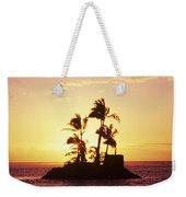 Island Silhouette Weekender Tote Bag