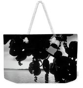 Island - View -  Black And White Weekender Tote Bag