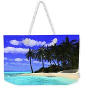 Island With Palm Trees Weekender Tote Bag