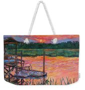 Isle Of Palms Sunset Weekender Tote Bag
