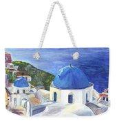 Isle Of Santorini Thiara  In Greece Weekender Tote Bag