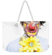 Isolated Clown In A Funny Summer Romance Weekender Tote Bag