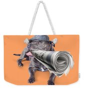 Isolated Newspaper Dog Carrying Latest News Weekender Tote Bag