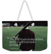 Ispirational Sports Quotes  Joe Paterno Weekender Tote Bag