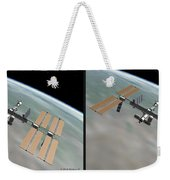 Iss - Gently Cross Your Eyes And Focus On The Middle Image Weekender Tote Bag