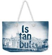 Istanbul Blue Weekender Tote Bag