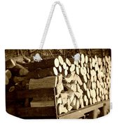 It Warms You Twice Sepia Weekender Tote Bag