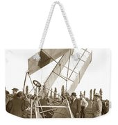 It Was A Good Landing The Pilot Walked Away  Twin Wing Aircraft  Circa 1909 Weekender Tote Bag