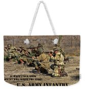It Wasn't Our Book - Us Army Infantry Weekender Tote Bag