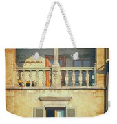 Italian Arched Balcony Weekender Tote Bag