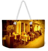 Italian Cafe In Golden Sepia Weekender Tote Bag