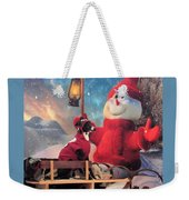 Italian Greyhound With Snowman Weekender Tote Bag