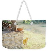 Italian Kitty Weekender Tote Bag