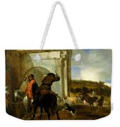 Italian Landscape With Horsemen By A Spring Weekender Tote Bag