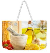 Italian Pasta In Country Kitchen Weekender Tote Bag