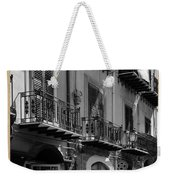 Italian Street In Black And White Weekender Tote Bag by Stefano Senise