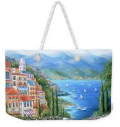 Italian Village By The Sea Weekender Tote Bag