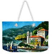 Italy - Lake Como - Villa Balbianello Weekender Tote Bag
