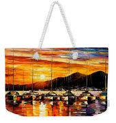 Italy - Naples Harbor- Vesuvius Weekender Tote Bag