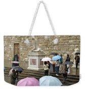 Italy, Florence, Piazza Della Signora Weekender Tote Bag