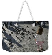Italy, Florence, Young Girls Inspects Weekender Tote Bag